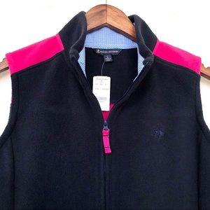 NWT Brooks Brothers Fleece Zipper Vest (size L)